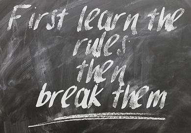 habits: learn the rules then break them
