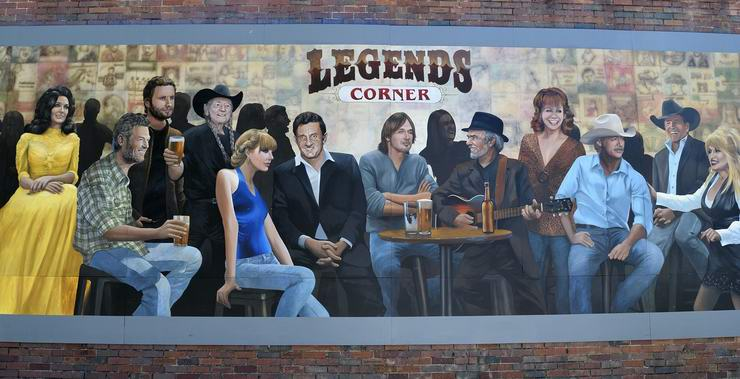 Wall Mural: Nashville's Legends