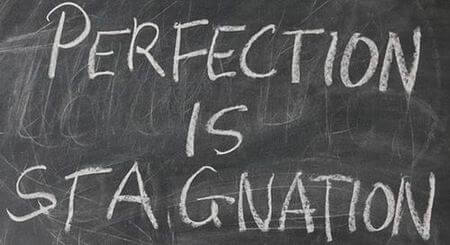 Business Quote: perfection is stagnation