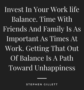 invest in your work life balance